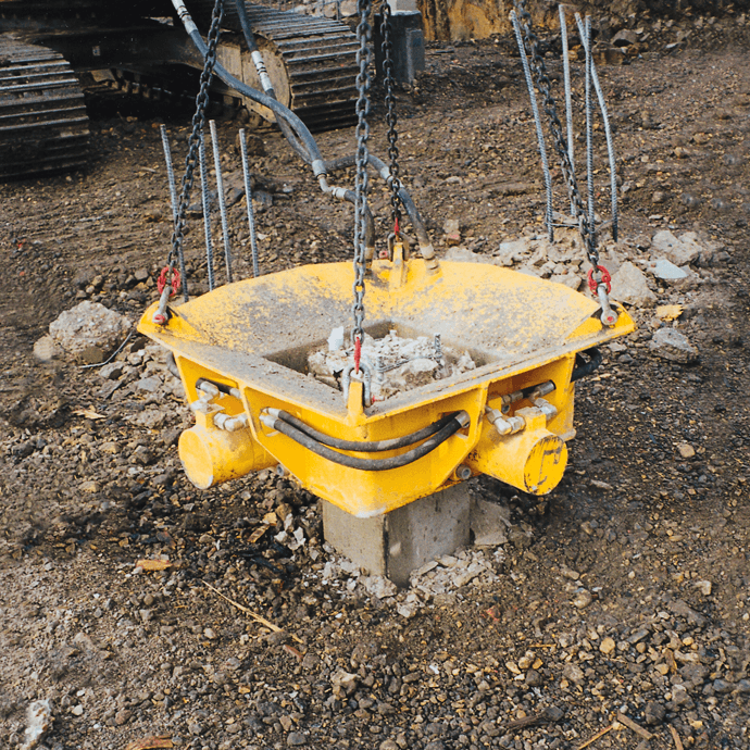 Square Concrete Pile Croppers