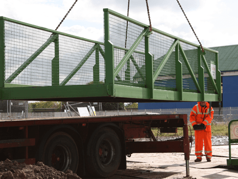 Temporary Bridge Installation