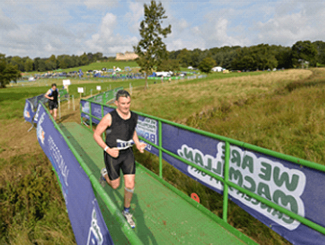 Groundforce Bridge helps runners compete in the Macmillan Brownlee Triathlon