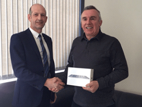 Chris Bennion Of Kier Wins iPad In GFTech Competition