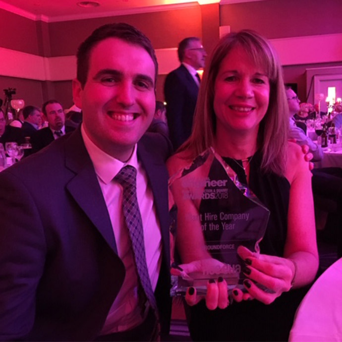 Groundforce named Plant Hire Company of the Year!