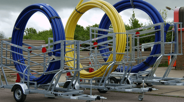 Coiled Pipe Trailer