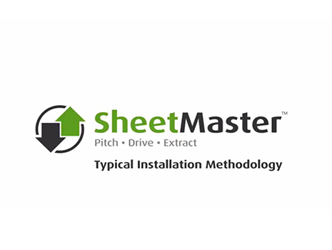 SheetMaster - Pitch | Drive | Extract - Typical Installation Methodology
